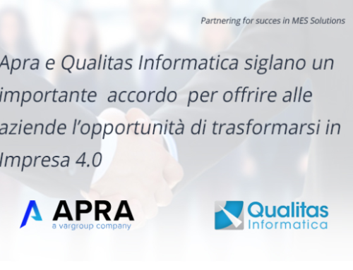Apra e Qualitas Informatica siglano un importante accordo di partnership
