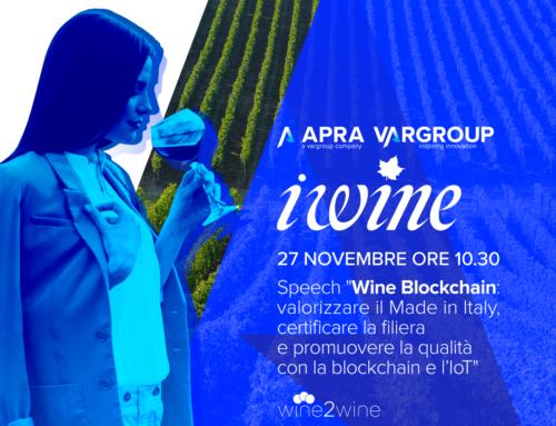 Al wine2wine 2018 parliamo di Wine Blockchain e IoT