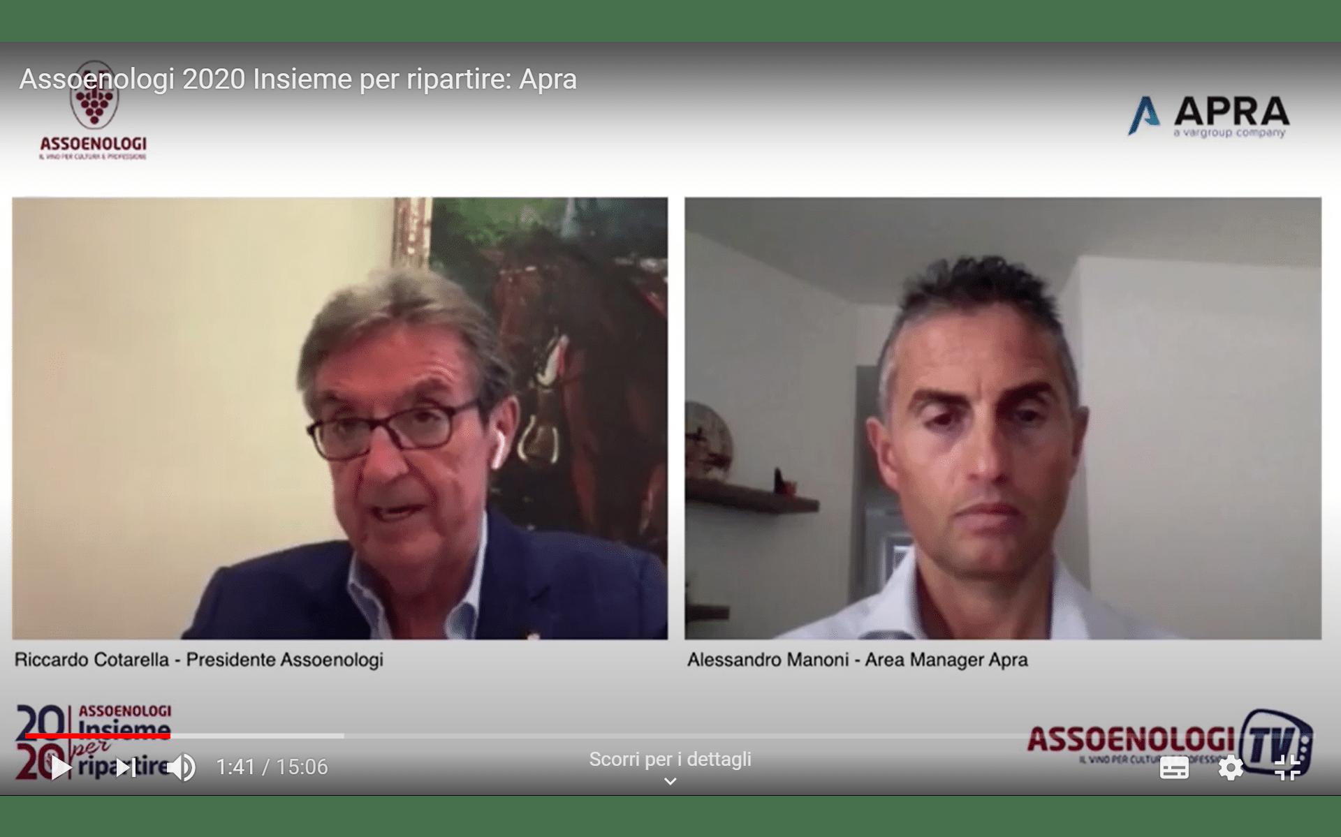 Apra ad Assoenologi 2020: guarda l'intervista